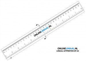 liniaal online printen